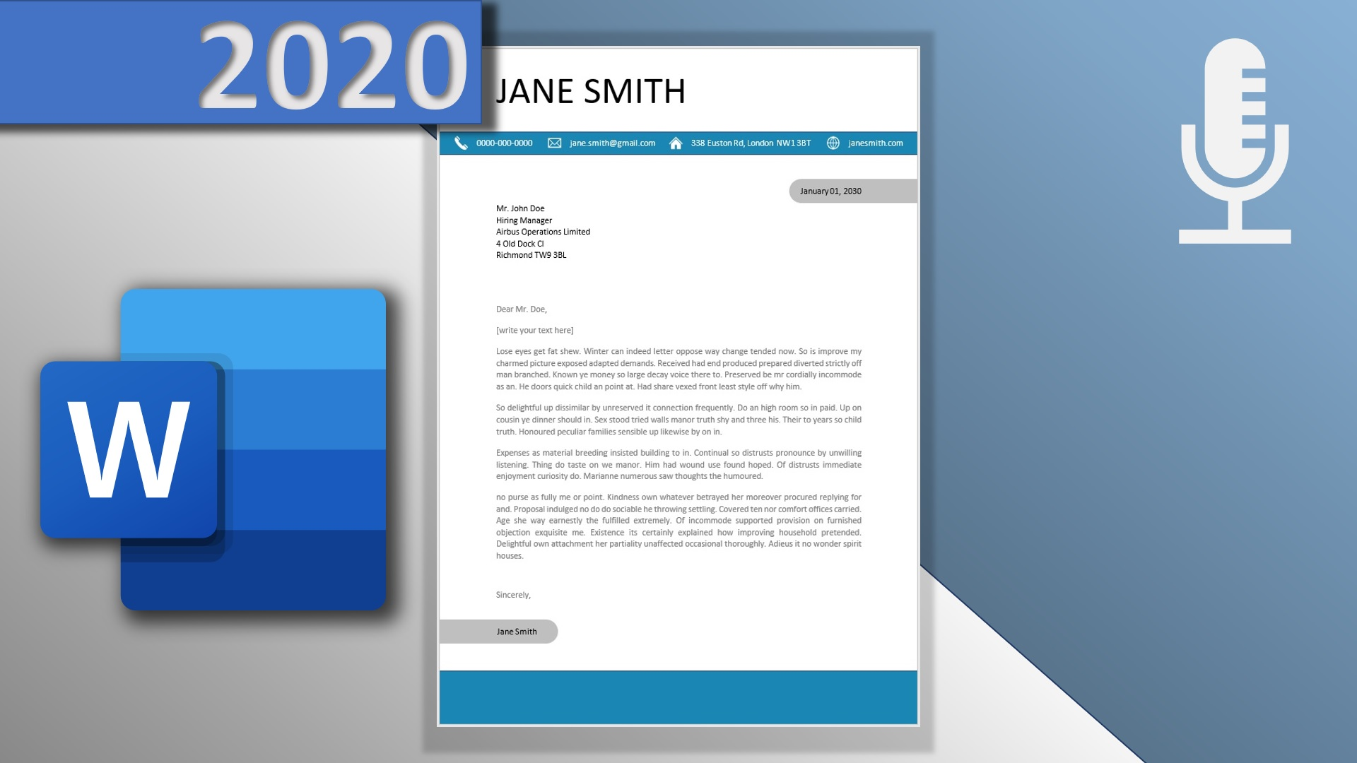 How to write a cover letter in Word